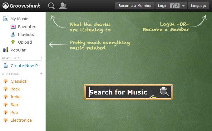 Grooveshark free music online