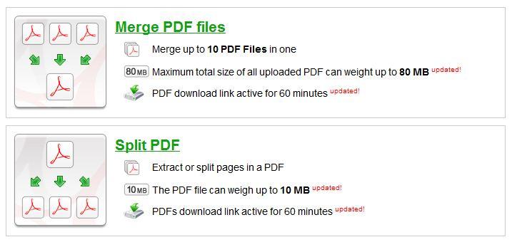ilovepdf merge split pdf
