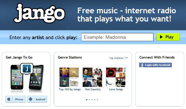 jango free music radio