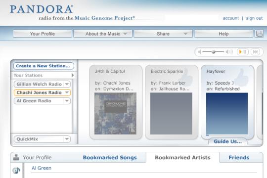pandora online music
