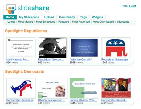 slideshare online presentations