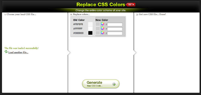 Css Color Editor