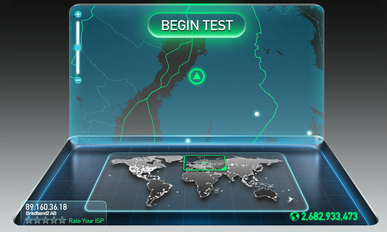 Speedtest test internet speed